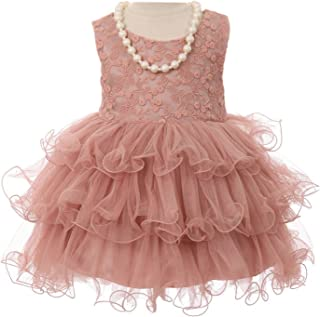 ba2dcc14595 Cinderella Couture Girls Mauve Lace Stretch Necklace Wired Tutu Flower Girl  Dress 6M-2T