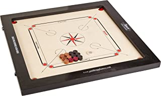 Surco Prime Speedo Carrom Board with Coins and Striker, 16mm