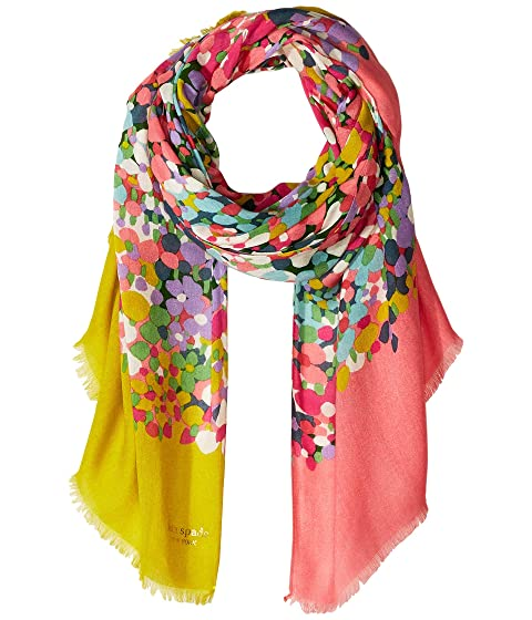 Kate Spade New York Floral Dots Oblong Scarf