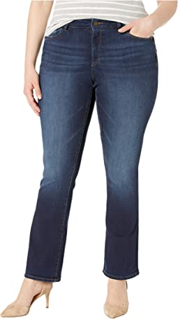 Plus Size Bridget Mid-Rise Indigo Bootcut in Peak