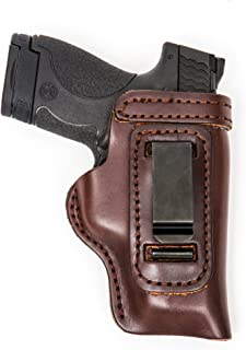 Colt 1911, 1991A1, Officers size, Para P-12, Kimber Custom,Rock Island, Springfield V-10, Les Baer, Chip McCormick, Charles Daly, This holster fits ALL 1911 3.5 inch full size pistols Including the New RAIL Models with the Light/laser rail RIGHT HAND BROWN INSIDE THE WAISTBAND CCW Leather Gun Holster