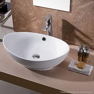Luxier CS-004 Bathroom Egg Porcelain Ceramic Vessel Vanity Sink Art Basin