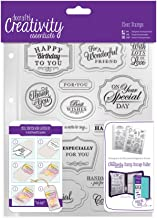 DOCrafts DCE907118 Creativity Essentials A5 Clear Stamp Set (18 Pack), Trad Sentiment, Blue