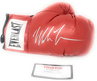 Mike Tyson Signed Autograph Boxing Glove In Silver Tristar Authentic Certified