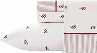 Nautica Heritage Spinnaker Sheet Set, Queen, Red