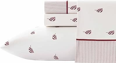 Nautica Heritage Spinnaker Sheet Set, Twin X-Large, Red