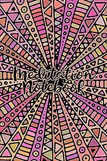 Meditation Notebook: Lined Notebook/Journal with Pink/Orange Mandala