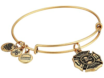 Alex and Ani Firefighter Bangle (Rafaelian Gold) Bracelet