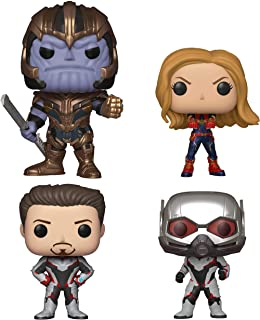 Funko Marvel: Pop! Avengers Endgame Collectors Set 2 - Thanos, Captain Marvel, Iron Man, Ant-Man