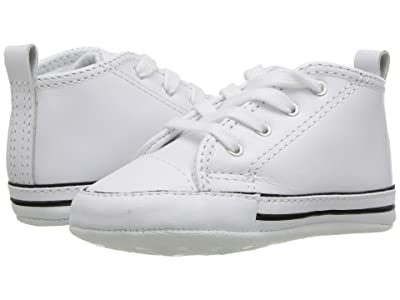 Converse Kids Chuck Taylor(r) First Star Core Crib (Infant/Toddler) (White Leather) Kids Shoes