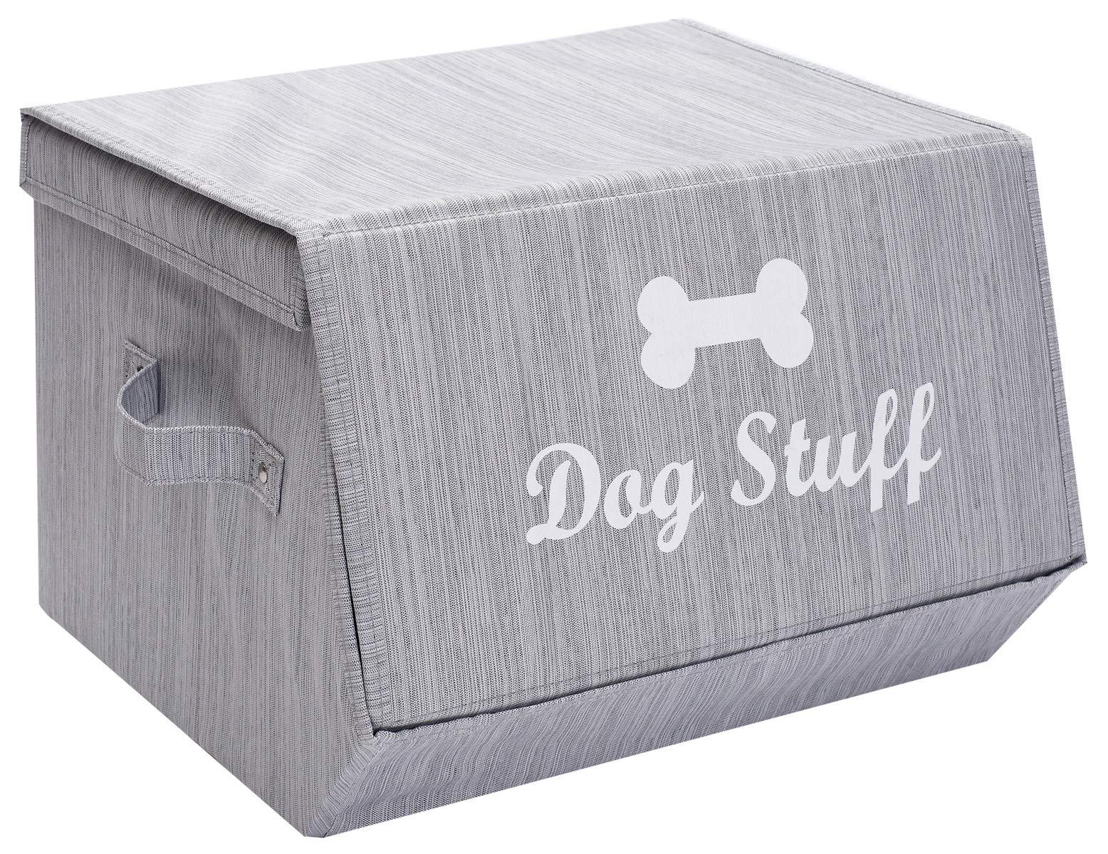 Morezi cesta de juguete de lona para perro y caja de juguetes para perro con tapa, cesta organizador de pecho – perfecto para organizar juguetes de mascotas, mantas, correas y alimentos: Amazon.es: