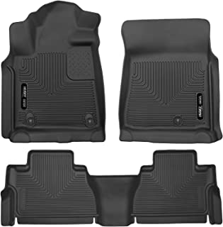 Husky Liners 53731-53811 - X-Act Contour - First and Second Rows All Weather Custom Fit Floor Liners for 2007-2011 Toyota Tundra CrewMax/Double Cab