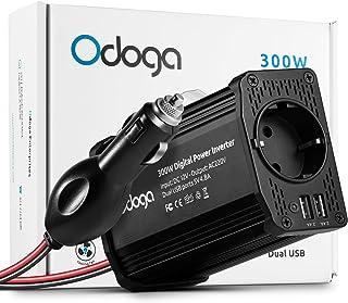 Odoga Convertisseur Transformateur Chargeur pour Voiture 300W 12V 220V-240V Onduleur..