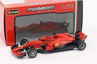 Bburago 2018 Ferrari Racing Formula 1 F1 SF71-H #5 Sebastian Vettel Die-cast Car 1: 43 Scale 36809 SV, Red