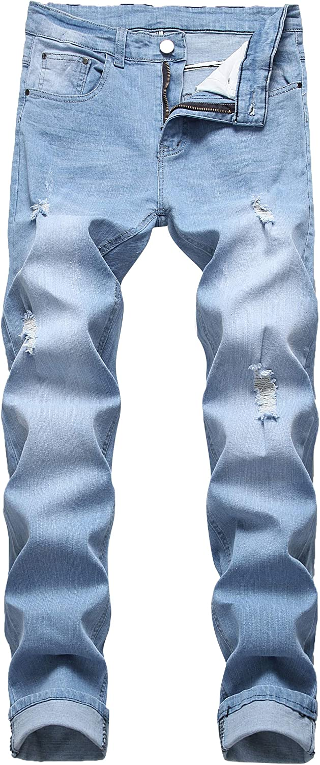 Grimgrow New Shipping Free Shipping Men's Slim Fit trust Distressed Stretch Ripped Jeans D Skinny