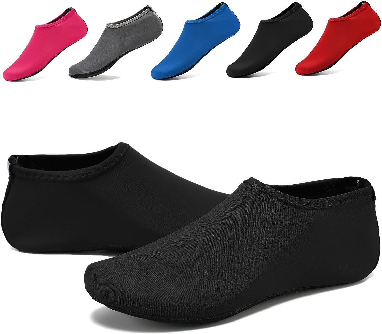 WQINSHOE Unisex Barefoot Water Skin shoes Aqua Socks Anti-Slip Durable Sole shoes for Aerobics Exercise Beach Swim Yoga