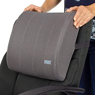 Xtra-Comfort Lumbar Support Cushion - Lower Back Pillow for Office Chair, Car, Men, Women, Gaming - Ergonomic Orthopedic Backrest Foam Roll and Adjustable Strap for Therapeutic Pain Relief