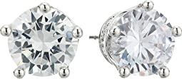 Betsey Johnson Blue by Betsey Johnson Cubic Zirconia Stone Studs with Crown Base and Accents Earrings