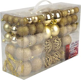 Christmas Gifts Bolas de Navidad, Dorado, 100x