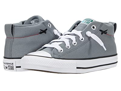 Converse Kids Chuck Taylor(r) All Star(r) Street Mid (Little Kid/Big Kid) (Limestone/Sail Blue/White) Kids Shoes