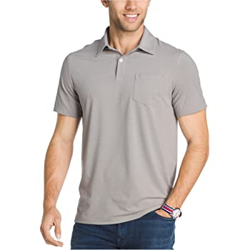 IZOD Mens Perform Cool Fx Embroidered Rugby Polo Shirt