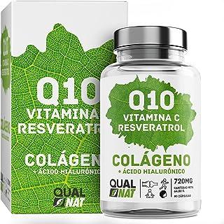 Colágeno marino con acido hialurónico  Coencima Q10 + Vitamina C + Resveratrol   Colágeno Marino Para una Piel Radiante y ...