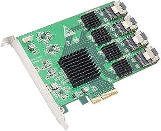 IO Crest 16 Port SATA III PCIe 2.0 x2 Controller Card Green, SI-PEX40097