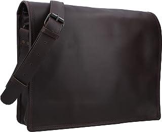Gusti Ledertasche Herren Leder -Mitch Aktentasche Laptoptasche 15 Zoll Umhängetasche Schultertasche Businesstasche Herren