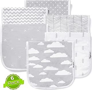 Baby Burp Cloths Set (6 Pack), Super Soft Cotton, Large 21