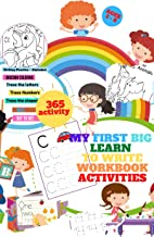 My First Big Learn to Write Workbook Activities: 365 Activities to Support First Grade Skills ,5 books in1,preschool tracing workbook letters and numbers ,unicorn colouring Book, Line Tracing,gift