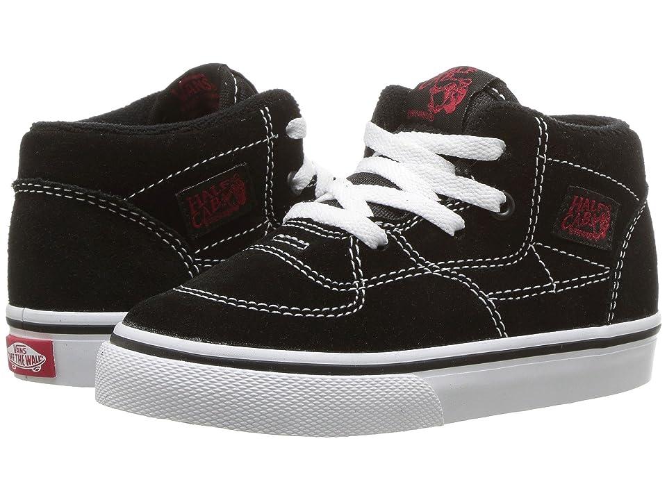 Vans Kids Half Cab (Infant/Toddler) (Racing Red/True White) Boys Shoes