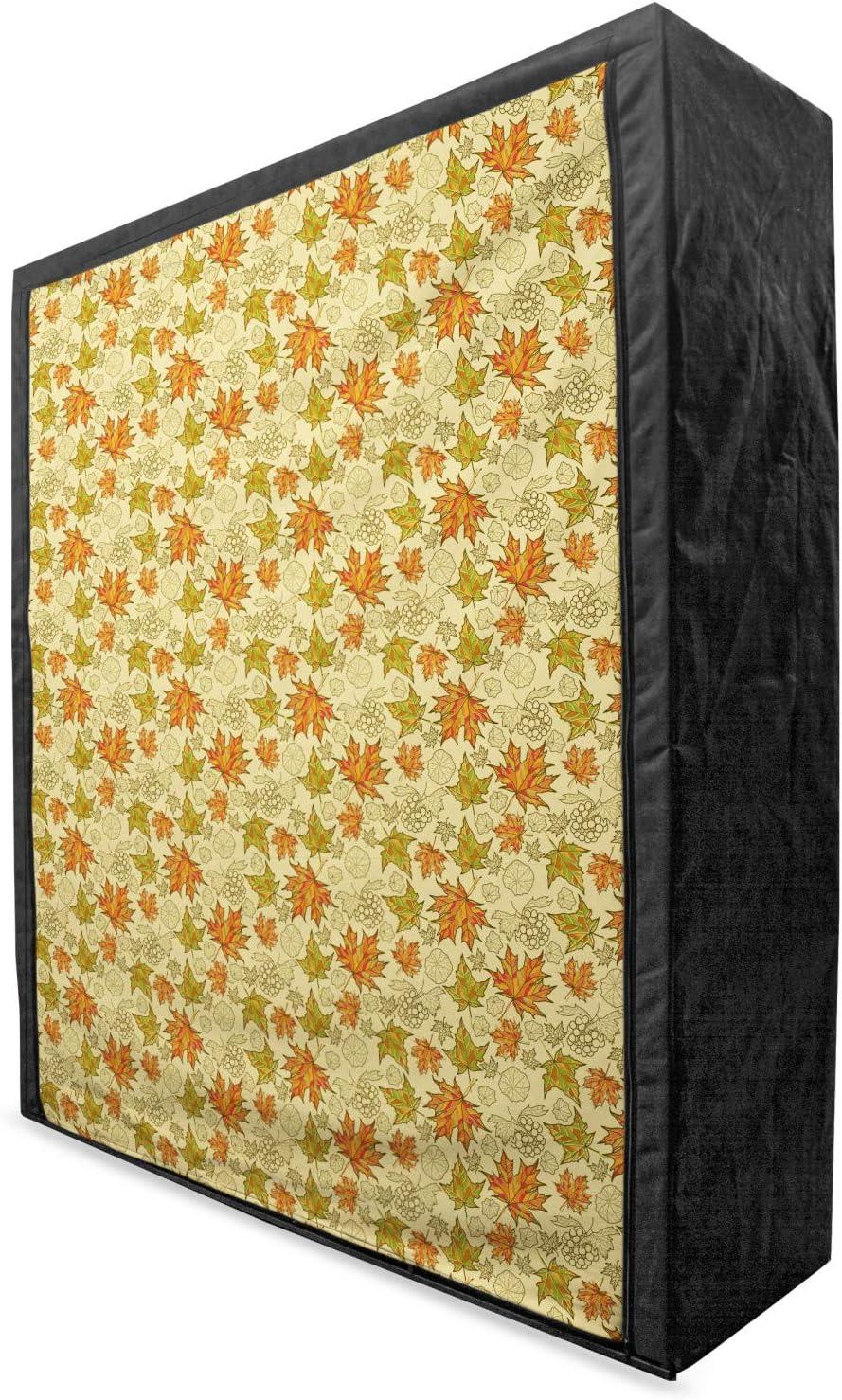 Lunarable Autumn Fall Portable Fabric Lea Boston Super beauty product restock quality top! Mall Grunge Maple Wardrobe