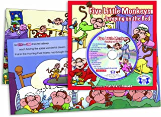 Five Little Monkeys Jumping on the Bed (Book & CD) (Read & Sing Along)