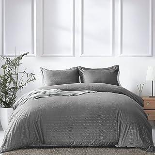 King Duvet Covers 3 Pieces with Zipper Closure Corner Ties Soft Breathable Microfiber Comforter Cover Bedding Set (1 Duvet...