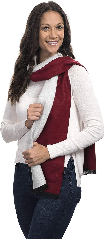 Cashmere&Class TwoTone Cashmere Scarf Reversible Trendy Warm Winter Wear, Women, Men