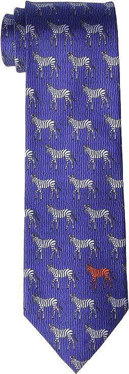 8 cm. Zebra/Paisley Double Face Tie
