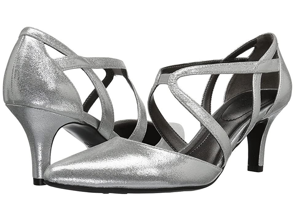 1930s Style Shoes – Art Deco Shoes LifeStride Seamless Silver High Heels $59.99 AT vintagedancer.com