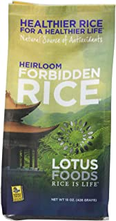 Lotus Foods Gourmet Heirloom Forbidden Rice, 0.94 Pound (Pack of 6)