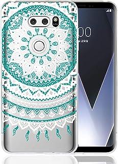 LG V30 / V30+ L-01K / JOJO L-02K / isai V30+ LGV35 TPUソフトケース 背面カバー 透明 図柄 Zouzt クリアケース 薄型軽量 耐衝撃 ワイヤレス充電対応 かわいい 可愛い 4色 ブルー