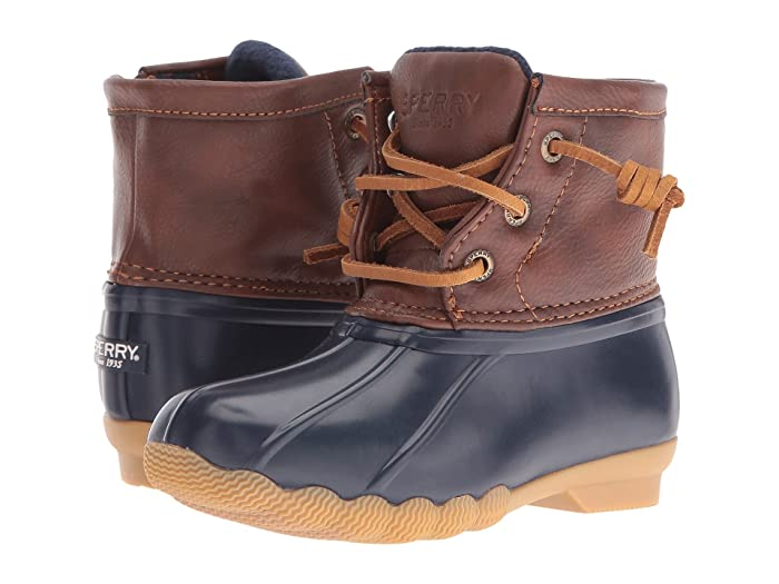 Sperry Kids Saltwater Boot (Toddler/Little Kid) (Navy) Kids Shoes