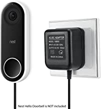 Power Adapter for Nest Hello Video Doorbell 18v Output Power Supply Cable Charger Kit w/ 2 Cord | AC Adopter Plug for Outdoor Wall Outlet Plug-in by Sully