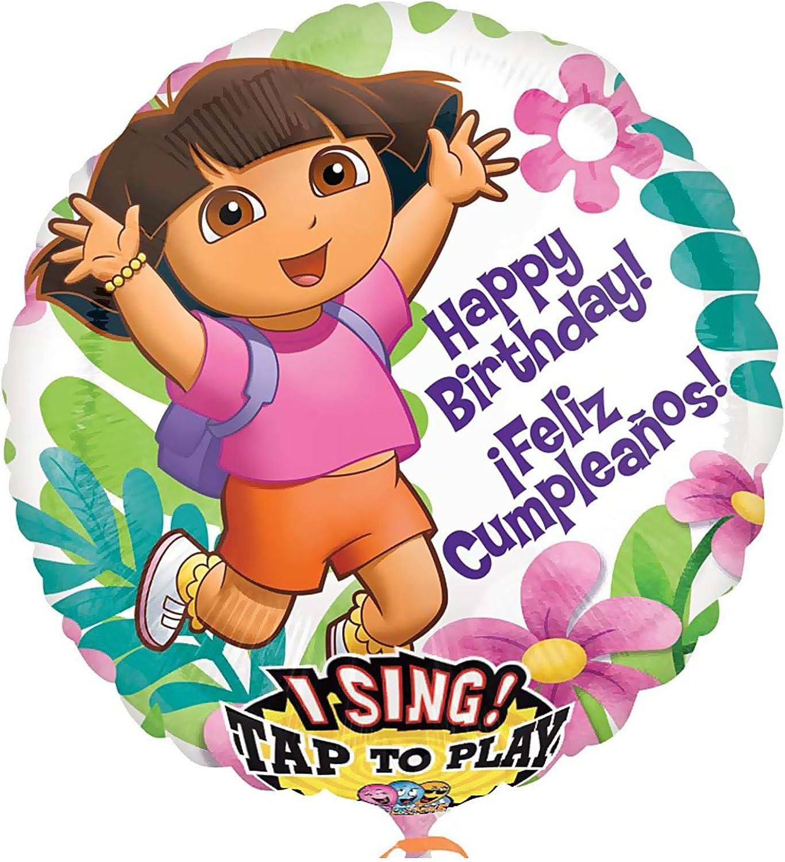 Mayflower Distributing - Dora Birthday Singatune Foil Btuttioon, 28