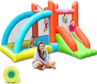 Sponsored Ad - Naice Bounce House with Blower, Inflatable Bouncy House for Indoor Outdoor Jumping Castle with Slide, Durab...