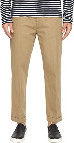 Relaxed Cropped Trousers