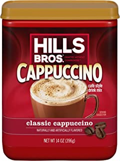Hills Bros. Instant Cappuccino Mix, Classic Cappuccino Mix – Easy to Use and Convenient, Enjoy Coffeehouse Flavor at Home ...