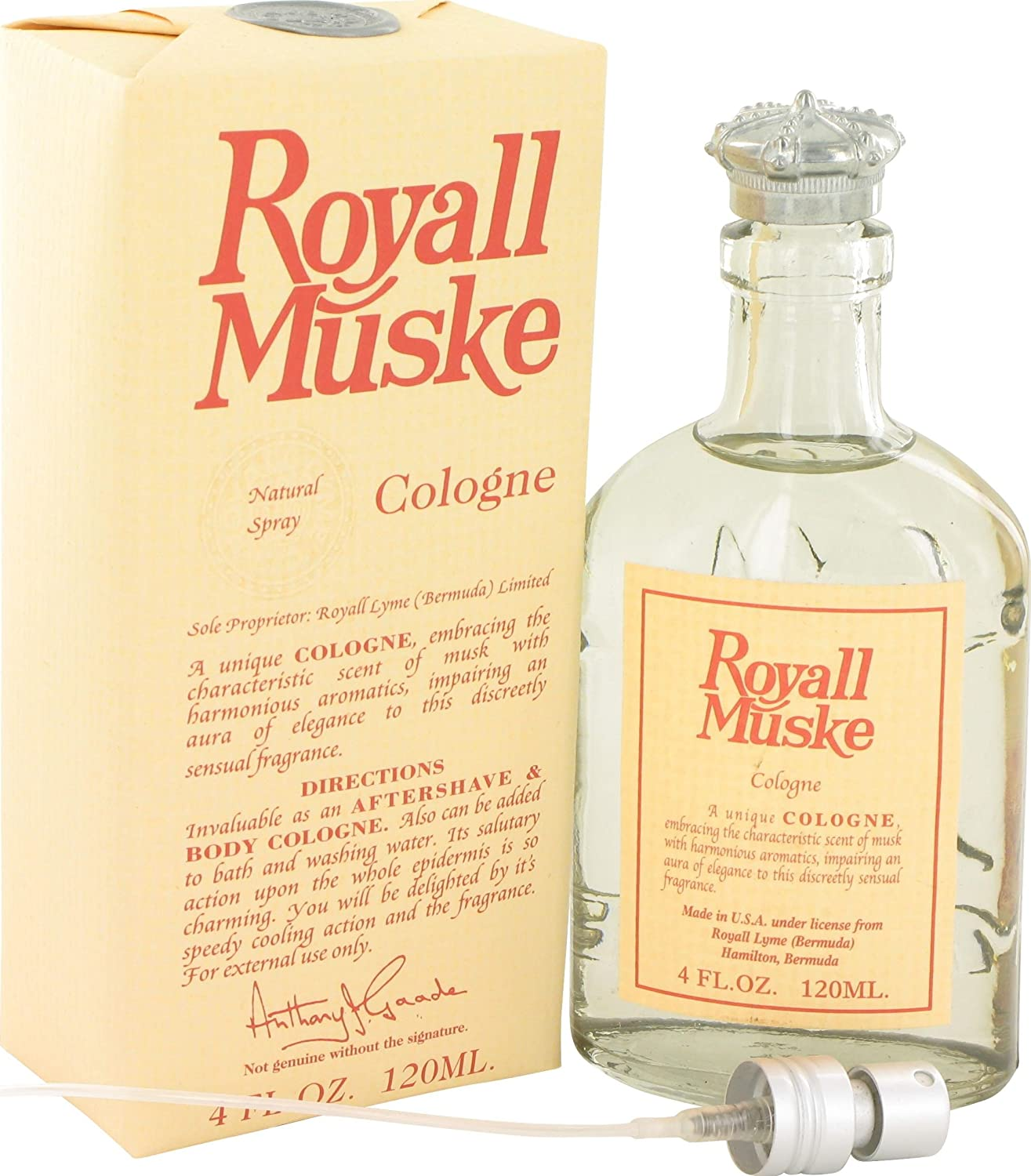 ROYALL MUSKE by Royall Fragrances All Cologne Lotion 4 Purpose Al sold Popular out. o