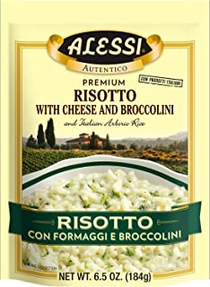 Alessi Cheese and Broccolini Risotto, 6.5 Ounce (Pack of 6)