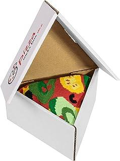 Rainbow Socks, Pizza Socks Box Slice Vege - Mujer Hombre - 1 par de Calcetines