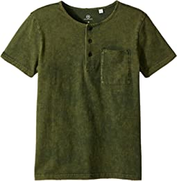 AG Adriano Goldschmied Kids Teagan Henley Tee (Big Kids)