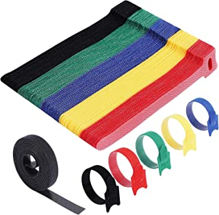 Cable Ties Reusable - Home-Mart 50 Pack 5 Color Cable Straps Multi-Purpose Tie Wraps Fastening Straps Used for Headphones ...